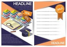 Modello creativo di progettazione della carta di vettore dell'opuscolo dell'aletta di filatoio del modello di rapporto per il inf Immagini Stock Libere da Diritti