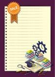 Modello creativo di progettazione della carta di vettore dell'opuscolo dell'aletta di filatoio del modello di rapporto per il inf Immagine Stock Libera da Diritti