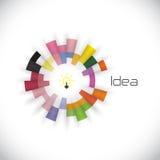 Modello creativo di progettazione di logo di vettore dell'estratto del cerchio corporativo royalty illustrazione gratis