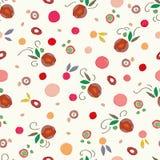 Modello crema con i punti variopinti delle mele rosse illustrazione di stock