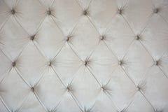 Modello crema di struttura del sofà fotografie stock libere da diritti