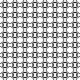 Modello curvo senza cuciture in bianco e nero fotografie stock