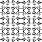 Modello curvo senza cuciture in bianco e nero fotografia stock