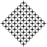 Modello curvo senza cuciture in bianco e nero immagine stock libera da diritti