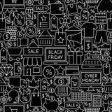 Modello cyber delle mattonelle di Black Friday lunedì Immagine Stock