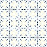 Modello d'annata blu della freccia e del fiore su fondo pastello Immagine Stock Libera da Diritti