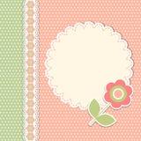 Modello d'annata con il fiore royalty illustrazione gratis