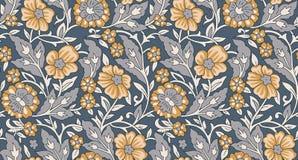 Modello d'annata del fiore floreale senza cuciture royalty illustrazione gratis