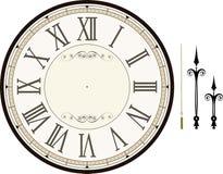 Modello d'annata del fronte di orologio Fotografia Stock Libera da Diritti