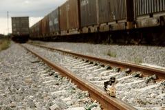 Modello d'annata del giocattolo del treno Fotografie Stock Libere da Diritti