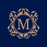 Modello d'annata del monogramma Immagine Stock Libera da Diritti