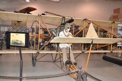 Modello d'annata dell'aeroplano al museo di aviazione di Hiller, San Carlo, CA Fotografia Stock