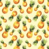 Modello d'annata dell'ananas del poligono Immagine Stock Libera da Diritti