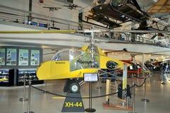 Modello d'annata dell'elicottero al museo di aviazione di Hiller, San Carlo, CA Fotografia Stock