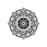 Modello d'annata della mandala decorativo con il fiore orientale Immagine Stock