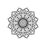 Modello d'annata della mandala decorativo con il fiore orientale Fotografia Stock