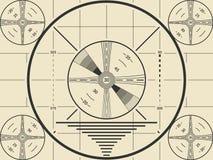 Modello d'annata dello schermo della prova della TV per la calibratura della televisione illustrazione di stock