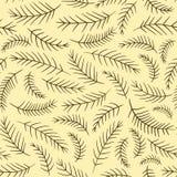Modello d'annata elegante senza cuciture del ramo dell'abete illustrazione vettoriale