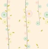 Modello d'annata floreale leggero Fotografia Stock