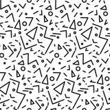 Modello d'annata geometrico senza cuciture nel retro stile 80s, Memphis Ideale per progettazione del tessuto, la stampa di carta  Immagini Stock