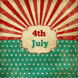 Modello d'annata per il quarto luglio Immagini Stock