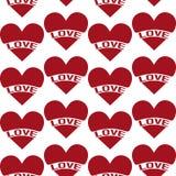Modello d'annata senza cuciture del cuore royalty illustrazione gratis