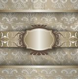 Modello d'argento dell'oro Immagini Stock