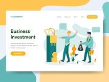 Modello d'atterraggio della pagina del concetto dell'illustrazione di investimento aziendale Concetto di progetto piano moderno d illustrazione vettoriale