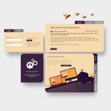 Modello d'avanguardia e creativo moderno del sito Web Illustrazione astratta ENV 10 di web design Immagini Stock Libere da Diritti