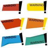 Modello d'avvertimento del distintivo Immagini Stock