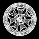 modello 3d dei cerchioni di automobile Fotografia Stock