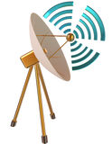 modello 3D dell'antenna parabolica come simbolo Fotografia Stock Libera da Diritti