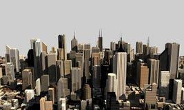 modello 3D della città Fotografia Stock Libera da Diritti