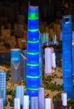 modello 3D della città di Shanghai Immagine Stock