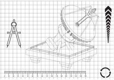 modello 3d di un'antenna Immagini Stock Libere da Diritti