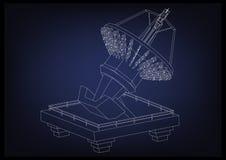 modello 3d di un'antenna Fotografia Stock Libera da Diritti