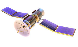 modello 3D di un satellite artificiale della terra illustrazione di stock
