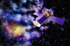 modello 3D di un satellite artificiale della terra Fotografia Stock