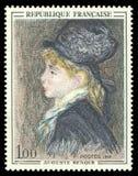 Modello da Auguste Renoir fotografia stock