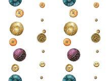 Modello da oro e dai bottoni viola Fotografia Stock Libera da Diritti