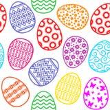 Modello decorativo delle uova di Pasqua senza cuciture Immagini Stock Libere da Diritti