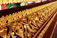 Modello decorativo di arte tailandese fotografia stock