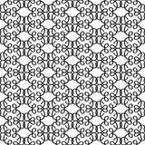Modello decorativo lineare nero illustrazione vettoriale
