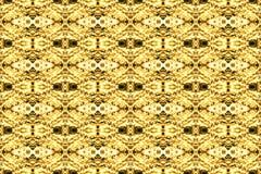 Modello decorativo marrone giallo di struttura senza cuciture del fondo dell'estratto immagini stock