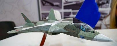 Modello degli aerei Su-57 immagine stock