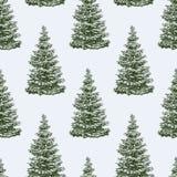 Modello degli alberi di Natale Fotografia Stock