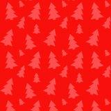 Modello degli alberi di Natale Illustrazione di vettore Fotografie Stock Libere da Diritti