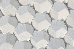 Modello degli elementi esagonali concreti Immagine Stock Libera da Diritti