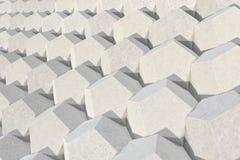 Modello degli elementi esagonali concreti Immagini Stock Libere da Diritti