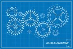 Modello degli ingranaggi Immagine Stock Libera da Diritti
